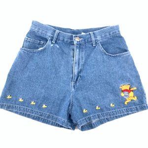 Vintage Winnie the Pooh Jean Denim Shorts